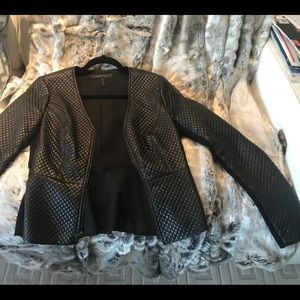 Eco Leather Textured Sporty Blazer